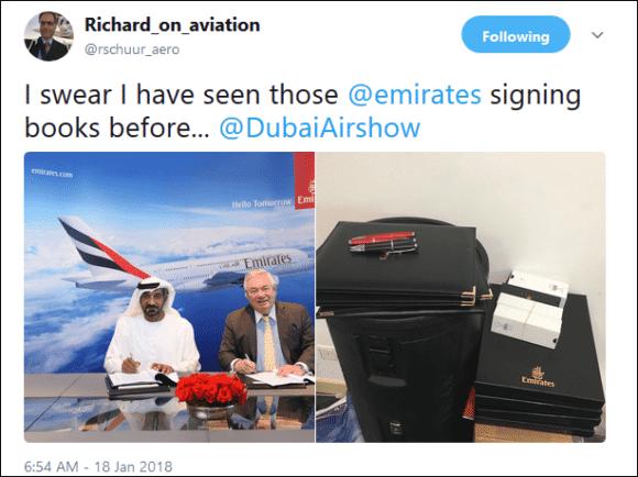 Emirates blinks